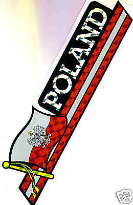 Poland State Flag (Eagle) Flag Bumper Sticker NEW