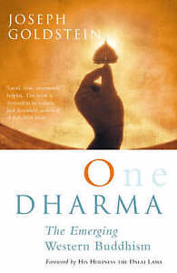 One Dharma: The Emerging Western Buddhism, Good Condition Book, Joseph Goldstein