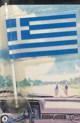Greece, Ellás - Hellenic Republic MiniPole Car Flag NEW