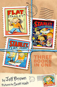 Flat-Stanley-Three-Books-in-One-By-Jeff-Brown-in-Used-but-Acceptable-condition