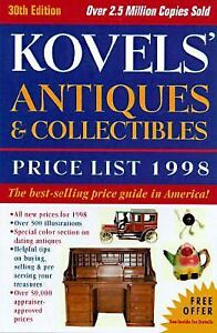 KOVELS ANTIQUES & COLLECTIBLES PRICE LIST 1998 30 EDITION