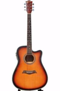 Acoustic Electric Guitar for beginners 41 inch Sunburst iMusic230 iMusicGuitar