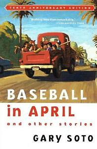 """Book/livre """"Baseball in april and other stories""""by Gary Soto,HMH"""