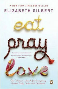 Eat, Pray, Love paperback, very good condition!