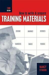 How to Write and Prepare Training Materials-ExLibrary