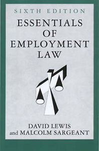 Essentials of Employment Law (People & organisations) by David Lewis - PB