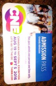 4 CNE adult admission only tickets, worth $18 each at the gate.