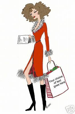 personalized diva Christmas cards great for business ()