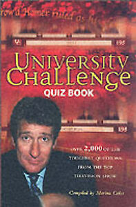"""University Challenge"" Quiz Book, By Coles, Marina,in Used but Acceptable condit"