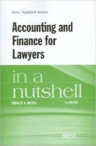 Accounting and Finance for Lawyers in a Nutshell 5th Edition