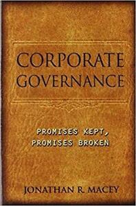 Corporate Governance Promises Kept Promises Broken