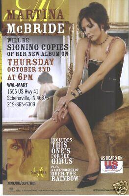 Martina Mcbride Walmart Appearance Photo Brochure 2003