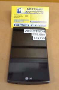 Téléphone cellulaire LG G4 noir avec endos cuire avec Vidéotron