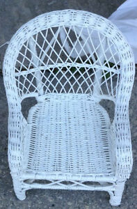 "Wicker chair suitable for 18"" dolls for sale"