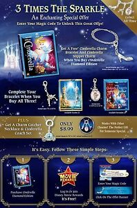 Disney movie rewards charm bracelet with charms