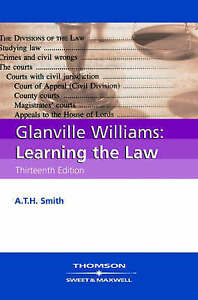 Learning the Law by A.T.H. Smith, Glanville L. Williams (Paperback, 2006)