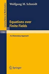 Equations over Finite Fields: An Elementary Approach (Lecture Notes in-ExLibrary