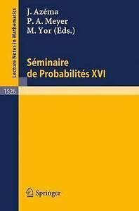 Seminaire de Probabilites XXVI (Lecture Notes in Mathematics) (English and Frenc