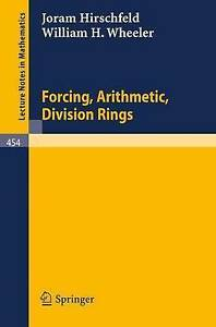 Forcing, Arithmetic, Division Rings (Lecture Notes in Mathematics)-ExLibrary