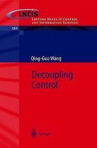 Decoupling Control by Wang, Qing-Guo