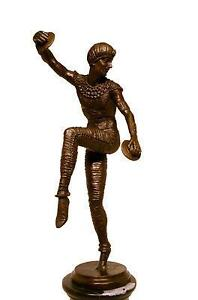 Bronze Original Modern Art Deco Musical Sculpture Chiparus Russian Dancer Statue