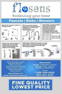 Shower panels | shower sets | washroom faucets | Kitchen Faucets | LIFETIME WARRANTY| cUPC