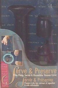 SOMMELIER Serve & Preserve: Wine Pump Server Resealable Vaccuum