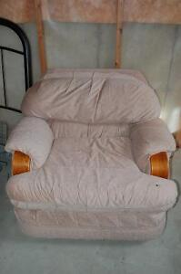 FREE Rose Coloured Comfy Over-Stuffed Chair