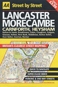 AA Street by Street Lancaster, Morecambe, , Very Good Book