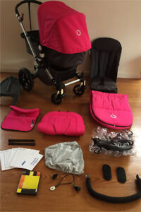 Bugaboo Cameleon Pram Stroller Pink Bassinet  Footmuff wheelie board Knoxfield Knox Area Preview