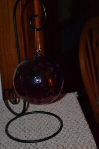 Large Glass Ball and hanger