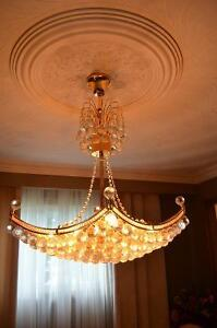 Beautiful chandelier with crystals