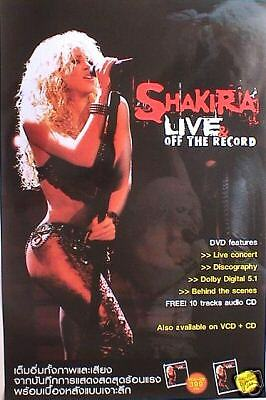 "SHAKIRA ""LIVE OFF THE RECORD"" PROMO POSTER FROM THAILAND - Latin Pop Music"
