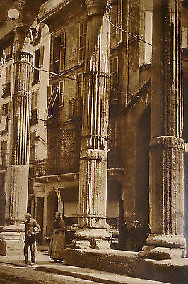 PHOTOGRAPH SIGNED BY CHARLES JOB - Street in Milan ITALY 1923 - Valuable