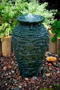 Aquascape-Stacked-Slate-Urn-Garden-Water-Fountain-Outdoor-Feature-Decoration
