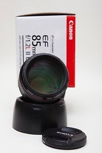 Canon 85mm 1.2 L ver II in great condition with B+W filter