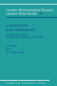 L-Functions and Arithmetic (London Mathematical Society Lecture Note-ExLibrary
