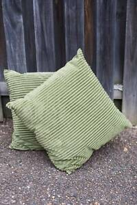 'Freedom' Corduroy Style Green Cushions - Perfect! North Ryde. North Ryde Ryde Area Preview