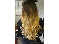 MOBILE HAIR EXTENSIONS, ALL COLOURS IN STOCK, FLEXIBLE HOURS, CREDIT CARDS ACCEPTED