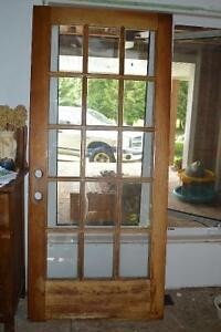 81X 36 inch exterior door - includes hinges