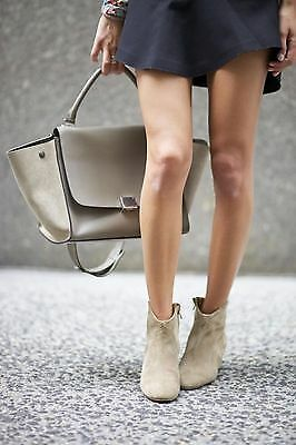 Isabel Marant Dicker Boot in Taupe Suede