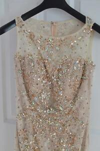 Beautiful gold nude evening prom dress London Ontario image 3