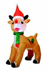 1.2m LightUp Self-Inflating Reindeer! Buy now! Bexley Rockdale Area Preview