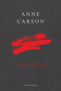 CARSON,ANNE-RED DOC> (SIGNED EDITION)  BOOK NEW