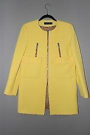 Zara Yellow Coat New - Size Medium