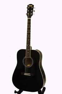 Free shipping ! Acoustic Guitar 41 inch Full Size for beginners Black iMusic578