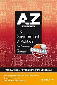Very Good, A-Z UK Government and Politics Handbook + Online (Complete A-Z), Paul