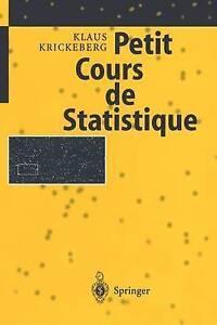 Petit Cours de Statistique (French Edition) by Krickeberg, Klaus