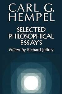 NEW Selected Philosophical Essays by Carl G. Hempel
