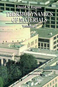 Thermodynamics of Materials, Volume 2, David V. Ragone